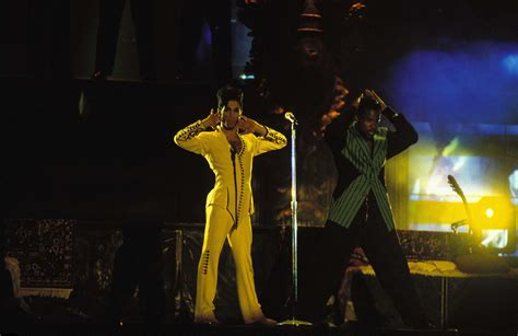 prince yellow jumpsuit a prince rogers nelson suit for every color of the rainbow