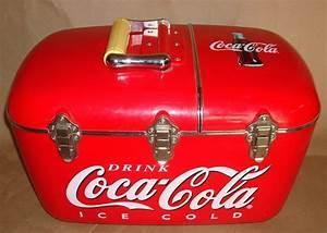 Coca Cola Radio  Cd  Ice Chest Cooler W   Attachments