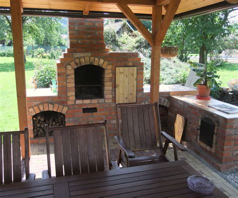 Bbq And Fireplace - diy outdoor fireplace with bbq grill brick what a