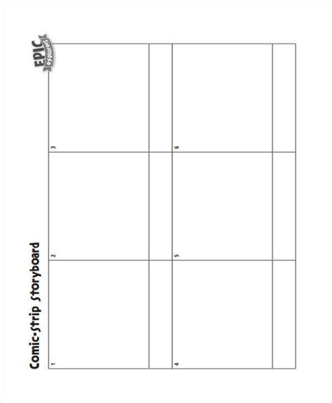 7 comic storyboard exles in word pdf
