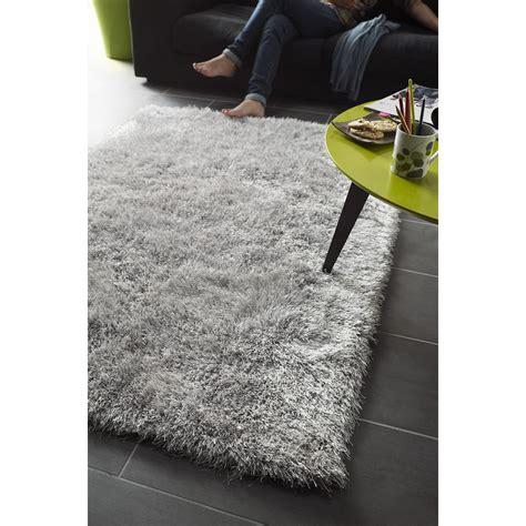 tapis gris shaggy love l 120 x l 170 cm leroy merlin