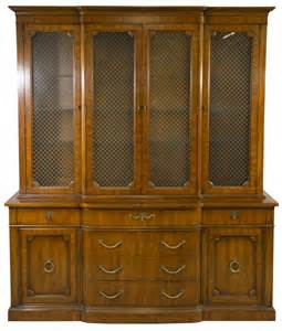 fruitwood china cabinet by henredon lot 13