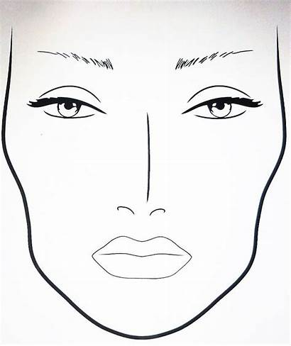 Face Makeup Template Drawing Blank Practice Sheets