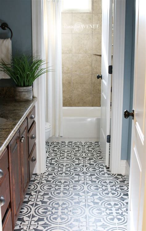 Painting Tile Floors In Bathroom by How To Paint Stencil Tile Decorating Ideas For The