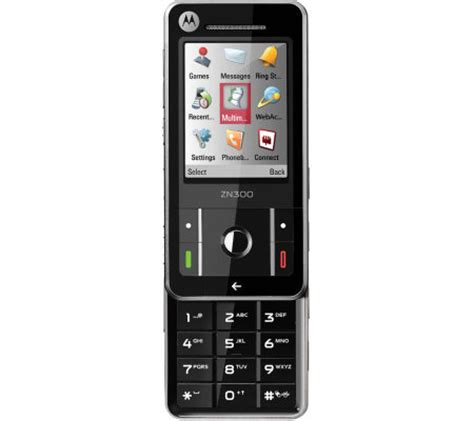 qvc cell phones motorola zn300 unlocked gsm cell phone with bluetooth