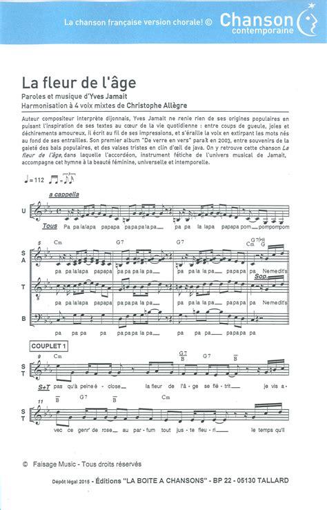 jean louis yves jamait paroles partition de musique 233 diteur de partitions pour chorale