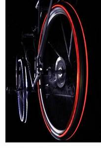 Flashy bicycle tyres boast LED lights