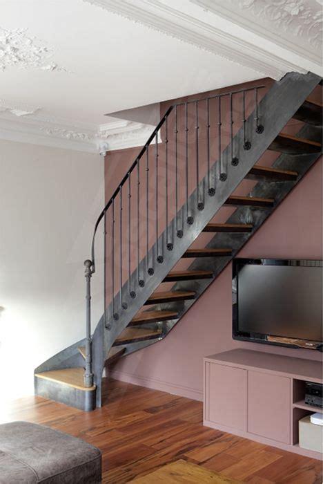 Escalier En Metal Interieur Photo Dt99 Esca Droit 174 1 4 Tournant Bas Escalier