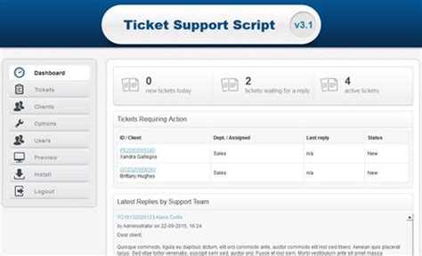 Help Desk Script Template by Ticket Support Script Help Desk System Phpjabbers