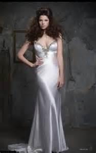 White Satin Nightgown