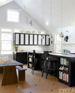 20 black and white kitchen design decor ideas With kitchen colors with white cabinets with daniel tiger wall art
