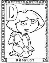 Coloring Sheets Dora Pages Cartoon Explorer Printable Alphabet Activity Characters Cartoons Colouring Monkey Alphabets Boots Halloween Sheet Print Activities Abc sketch template