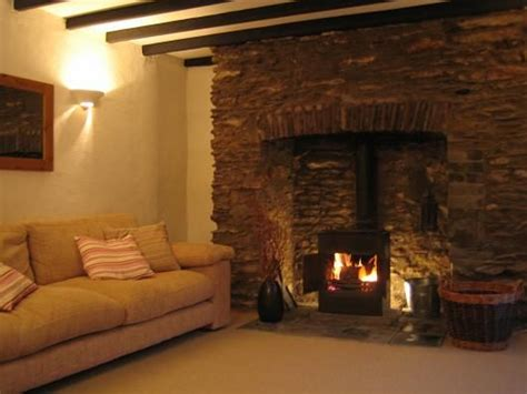 Living Room With Inglenook Fireplace