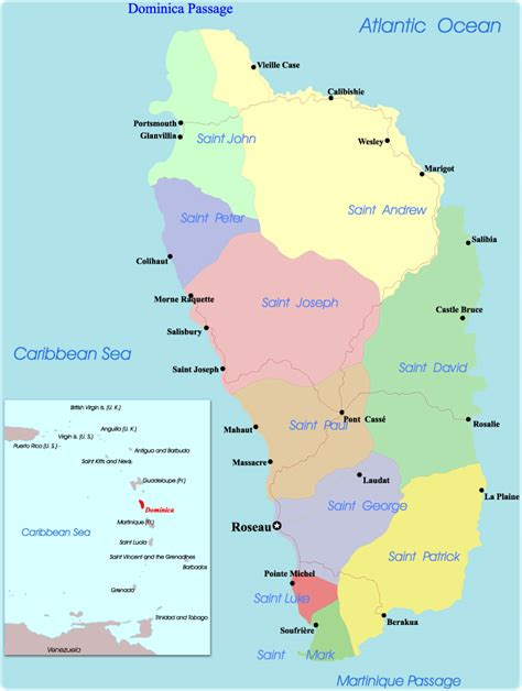 map  dominica portsmouth
