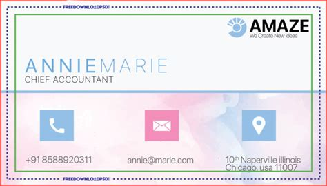 accountant business card psd template freedownloadpsdcom