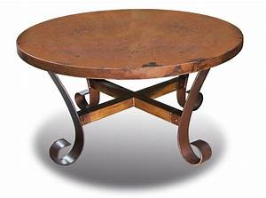 copper coffee table round copper table hammered table With round hammered metal coffee table