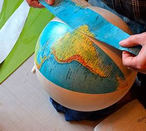 Globe Terrestre Carton : collage des fuseaux du globe terrestre ~ Teatrodelosmanantiales.com Idées de Décoration