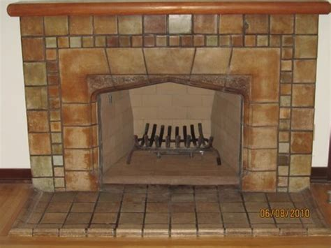 Batchelder Tile Fireplace Surround by San Diego Batchelder Tile Fireplace Photos Custom