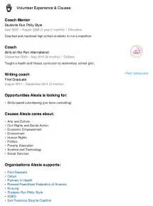 resume writing volunteer experience volunteer experience resume exle resume format