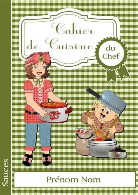 cahier de recette de cuisine page de garde du cahier de cuisine du chef album de
