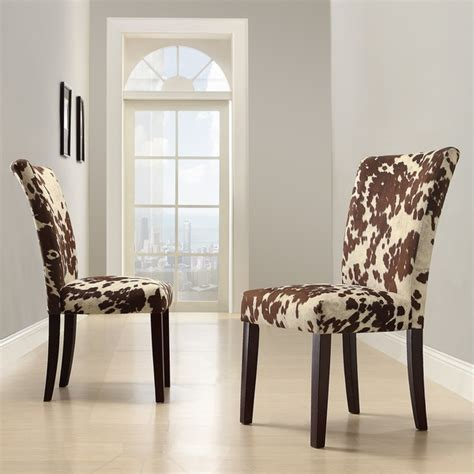 faux cowhide chairs furniture