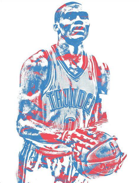 Russell Westbrook Oklahoma City Thunder Pixel Art 37 Art