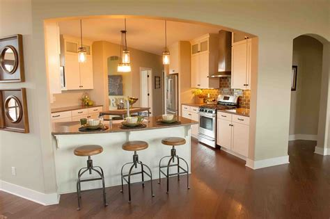 kitchen peninsula with seating the courtlynn home design demlang builders sussex wi