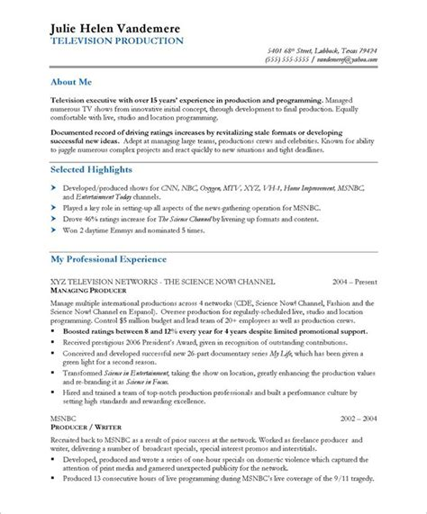 Resume Samples  Tv Producer  Blue Sky Resumes Blog. Fast Food Cashier Job Description Resume. Educator Resume Template. Entry Level Data Analyst Resume Sample. Accountant Assistant Resume Sample. Resume For Oil And Gas Company. Open Office Writer Resume Template. Process Technician Resume. Accounts Resume Samples