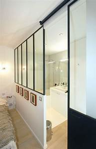 meuble salle de bain porte coulissante maison design With porte de douche coulissante avec meuble salle de bain custom aurlane