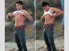 Zac Efron Hangs Out Shirtless on the Beach with 'We Are