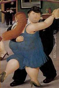Dancers 1987 oil painting reproduction by Fernando Botero ...