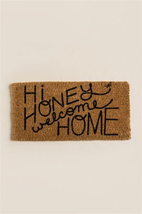 hi doormat hi honey welcom home door mat s