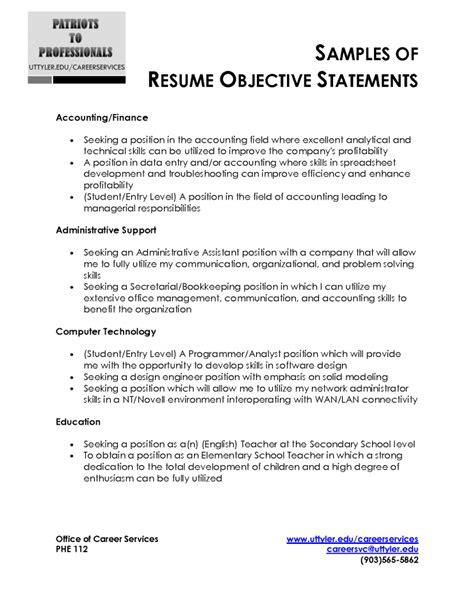 Career Change Resume Objective Statement Exles by Purpose Of Cover Letter For Resume Project Management