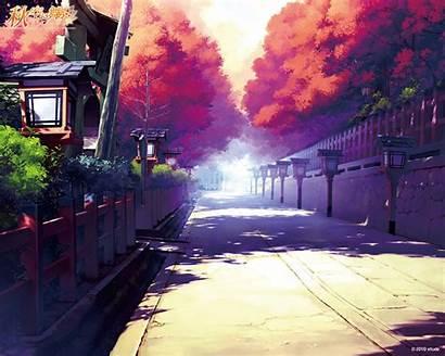 Anime Wallpapers Landscape Scenery Street Building Type