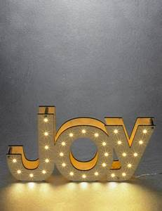 joy light up letters ms With lighted joy letters