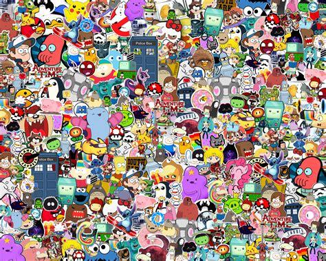 Regarder des films en ligne gratuitement. assorted cartoon characters doodle #Style #Heroes #Style # ...