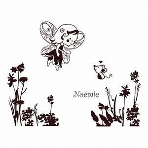 stickers bebe prenom fee des champs amikado With chambre bébé design avec le champ de fleurs est il efficace