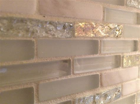 Glass Tile And Stone Backsplash : Glass & Marble Backsplash