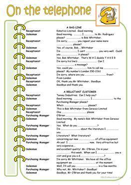 esl dialogues worksheets