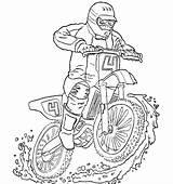 Transporte Motocross Colorear sketch template
