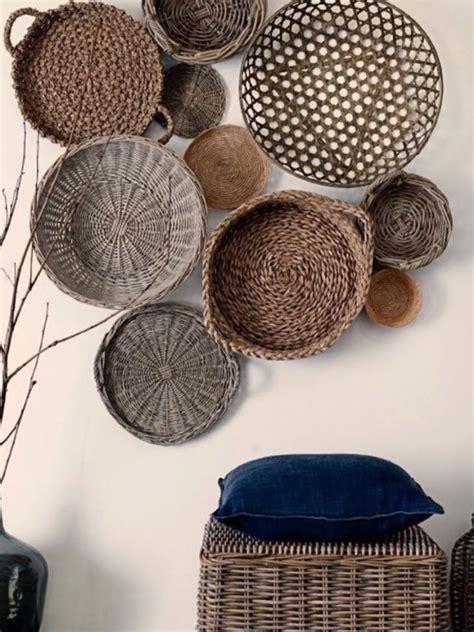wall decor ideas  baskets upcycle art