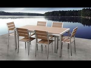 Polywood Gartenmöbel Set : beliani aluminium gartenm bel set braun tisch 180cm 6 st hle polywood vernio de youtube ~ Markanthonyermac.com Haus und Dekorationen