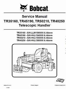 Bobcat Tr35160  Tr45190  Tr50210  Tr40250 Telescopic
