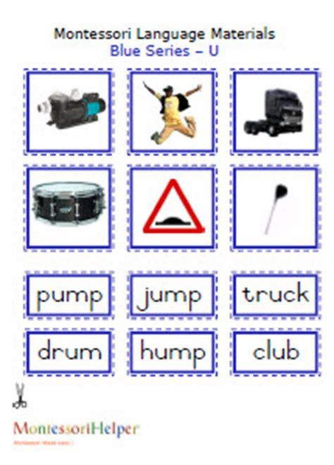 "Montessori Language Materials Blue ""u"", Age 3 To 6pdf"