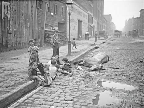 New York City Street Scene 1903 Photograph by Padre Art
