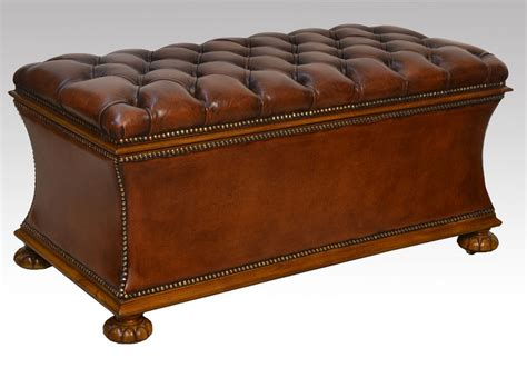 antique ottomans for leather upholstered ottoman antiques atlas 4120