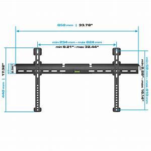 Ultra Slim Fixed Wall Mount For 37 U0026quot  Led  Plasma Tv U0026 39 S