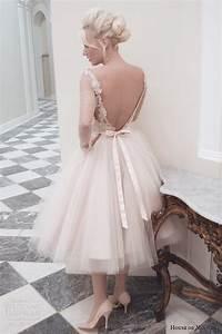 house of mooshki fall 2014 wedding dresses wedding inspirasi With tea length blush wedding dress