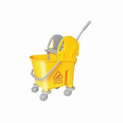 Mop Bucket Yellow Press Single 22l Down