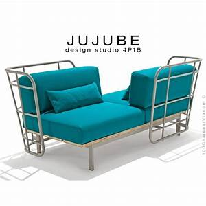 fauteuil design pour exterieur jujube structure acier With tapis exterieur avec coussin dehoussable pour canape